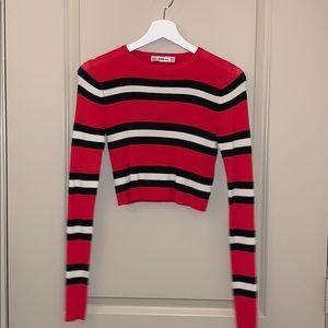 Zara striped cropped knit